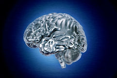 mózg profil chromu Obrazy Stock