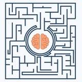 Mózg wśrodku labiryntu Zdjęcia Stock