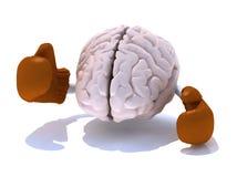 Mózg z bokserskimi rękawiczkami ilustracji