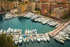 Mônaco, opinião de Monte Carlo Panoramic da cidade fotografia de stock