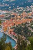 Mônaco, opinião de Monte Carlo Panoramic da cidade imagem de stock