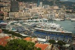 Mônaco, opinião de Monte Carlo Panoramic da cidade foto de stock royalty free