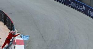 Mônaco Prix grande histórico 2018 - fim da raça do duelo acima da vista video estoque