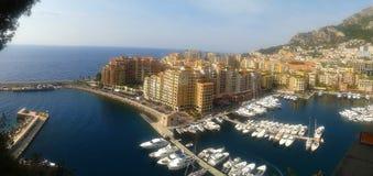 Mônaco - vista do porto imagem de stock royalty free