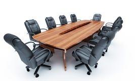 Möbel für eine Konferenz der Hallen Stockfoto