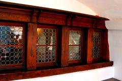 Möbel im Kleie-Schloss, Haus von Dracula, Brasov, Siebenbürgen Stockbilder