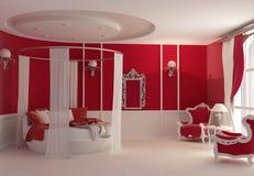 Möbel im Luxuxschlafzimmer Lizenzfreie Stockfotos