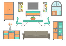 Möbel stellten 2 ein stock abbildung