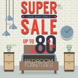 Möbel-Superverkauf bis 80 Prozent Lizenzfreies Stockbild