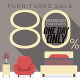 Möbel-Verkauf bis 80 Prozent Stockbild