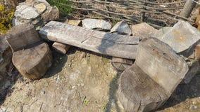 Möbel von den Stümpfen Stockfotografie