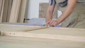 Möbelproduktionsgeschäft stock video footage