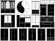 Möblemang Vektor Illustrationer