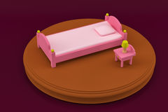 Möblemang för sovrum för barn` s för sovrum royaltyfri bild