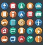 Möblemang- och belysningsymboler stock illustrationer