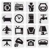 Möblemang och home symboler Royaltyfri Bild