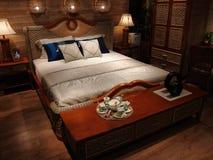 Möblemang- och sängrum Royaltyfria Foton