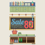 Möblemang Sale upp till 80 procent Royaltyfria Foton