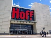 Möblemang shoppar `-Hoff ` i den akademikra `en för köpcentrum`, Royaltyfria Bilder