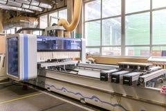Möblemangfabriksproduktionslinje Arkivbild