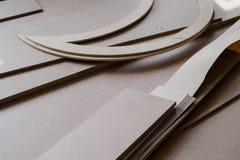 Möblemangkanter och HJÄLPMEDEL Kryssfanerklipp för bruk som texturer eller bakgrund Royaltyfria Bilder