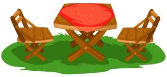 möblemangträdgård stock illustrationer