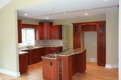 möblerat kök delvist Royaltyfri Fotografi
