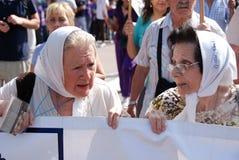 Mödrarna av Plazaet de Mayo Arkivfoton