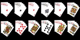 Mögliche Kombinationen von den Karten Stockfoto
