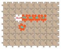 Mögliches Puzzlespiel Lizenzfreie Stockfotos