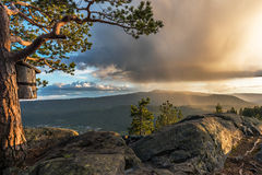 Möglichkeit von lokalen rainshowers Stockfotografie