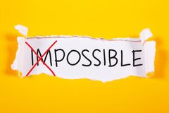 Möjlighet Motivational ordcitationsteckenbegrepp royaltyfri fotografi