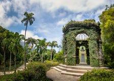 Mönch Leandro tun Sacramento-Denkmal zu Ehren des ersten Direktors botanischen Gartens Jardim Botanico - Rio de Janeiro, Brasilie lizenzfreies stockfoto