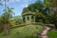 Mönch Leandro tun Sacramento-Denkmal zu Ehren des ersten Direktors botanischen Gartens Jardim Botanico - Rio de Janeiro, Brasilie lizenzfreie stockbilder