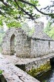 Mönch ` s Fischenhaus bei Cong Abbey, Grafschaft Mayo, Irland Stockbild