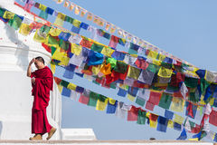 Mönch Tibet Stockfotografie