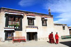 Mönch von Tibet Stockfotografie
