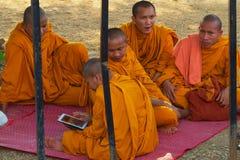 Mönche stockbild
