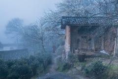 Mönche unter Pflaumenblüten stockbild