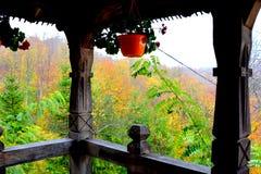 Mönchräume von Heilig-Anna--Rohiakloster, aufgestellt in einem natürlichen und lokalisierten Platz Stockfoto