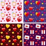 mönsan den seamless st-valentinen Arkivfoto