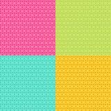 mönsan den seamless vektorn 4 olika färger Fotografering för Bildbyråer