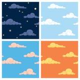 mönsan skyen Arkivbilder