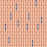 Mönstra abstrakta geometriska former apelsin och blått på beige bakgrund Royaltyfri Fotografi