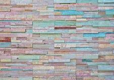 Mönstra av den moderna stentegelstenväggen fotografering för bildbyråer