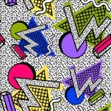 Mönstra Memphis 80th vektor illustrationer