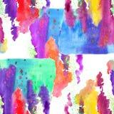 Mönstra sömlöst, färgrikt vattenfärg Royaltyfri Bild