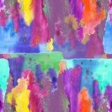 Mönstra sömlöst, färgrikt vattenfärg Royaltyfri Foto