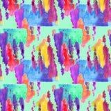 Mönstra sömlöst, färgrikt vattenfärg Arkivfoto