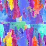 Mönstra sömlöst, färgrikt vattenfärg Fotografering för Bildbyråer